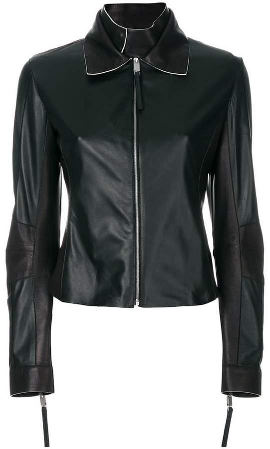 Alyx Taillierte Lederjacke mit Reißverschluss