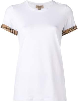 Burberry check detail T-shirt