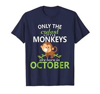 Monkey Birthday October T-Shirt Boys Zoo Jungle Party