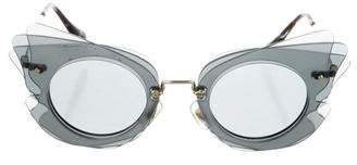 Miu Miu Lapping Game Butterfly Sunglasses