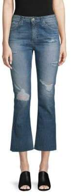AG Jeans High-Rise Distressed Jeans