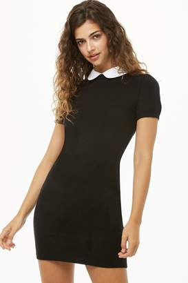 Forever 21 Contrast Collar Sweater Dress