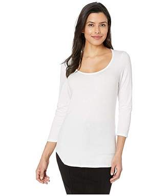 Nally & Millie Scoop Neck 3/4 Sleeve Modal Spandex Top
