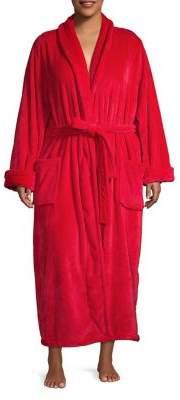 Lord & Taylor Plus Long Plush Robe