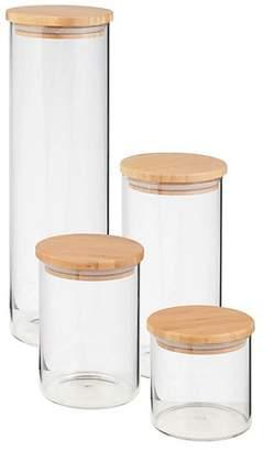 Honey-Can-Do 4-Piece Bamboo Storage Jar Set