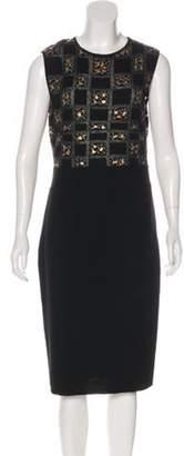 Giambattista Valli Wool Midi Dress Black Wool Midi Dress