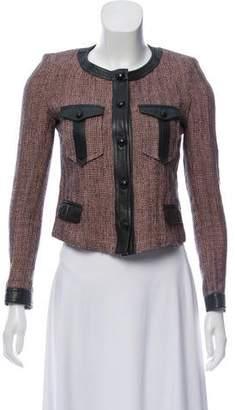 Isabel Marant Leather-Trimmed Tweed Jacket