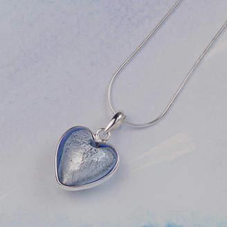 Glass Heart Claudette Worters Handmade Silver Murano Pendant