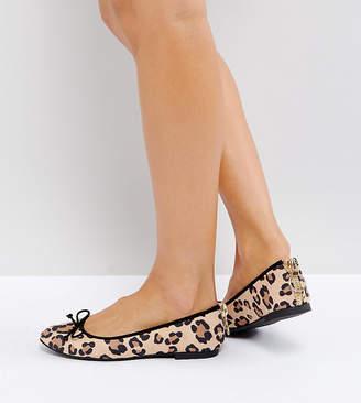 Asos DESIGN LANA Ballet Flats in leopard print