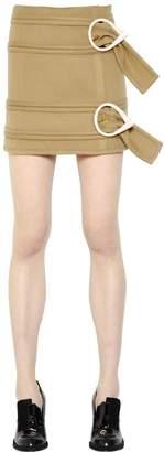J.W.Anderson Belted Light Wool Mini Skirt