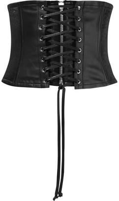 McQ Leather Corset Belt - Black