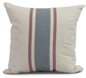 Simply Daisy, 26 x 26 inch,Grain Sack Decorative Pillow,Rust