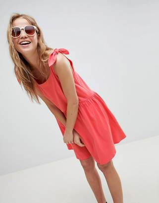 Asos DESIGN knot strap smock dress