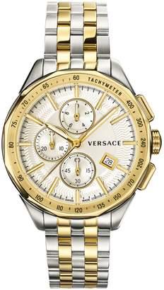 Versace Glaze Stainless Steel Chronograph Bracelet Watch