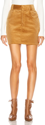 RE/DONE 90's Ultra High Rise Western Pocket Skirt in Camel | FWRD