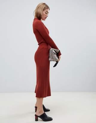 Asos Design DESIGN co-ord midi skirt in fine rib knit