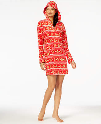 Jenni by Jennifer Moore Hooded Fleece Sleepshirt, Created for Macy's
