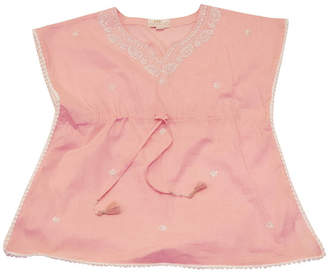 Little Ella James Pink Goa Pom Pom Top