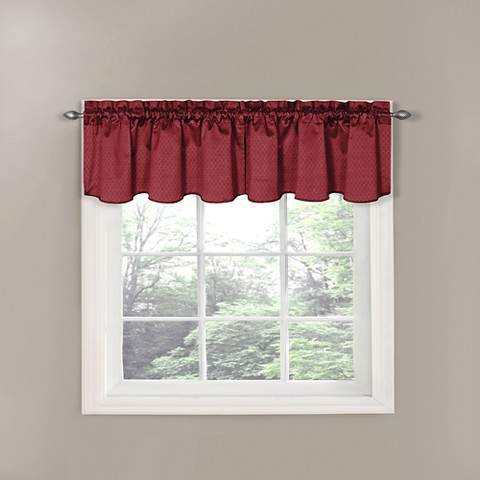 Thermaback Canova Blackout Window Valance - Burgundy (42