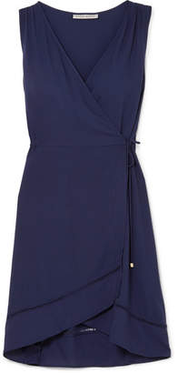 Heidi Klein Anacapri Voile Wrap Dress - Navy