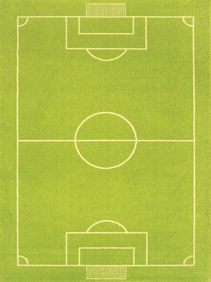 "Camilla And Marc Ivi IVI NB/121sr018ye80153-it Hypoallergenic Fleece Rug with""Football Stadium Motif 134 x 180 cm Green"