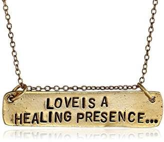 Alisa Michelle Back To Basics -Plated Love Is A Healing Presence Chain Necklace