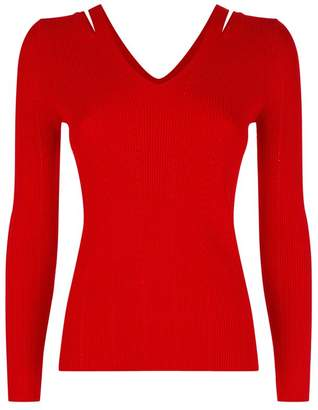 Sandro Cut-Out Shoulder Sweater