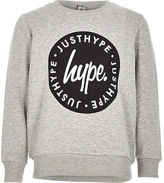 River Island Boys Hype grey crew neck sweatshirt