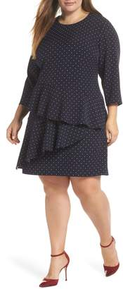 Eliza J Tiered Dropped Waist Dress
