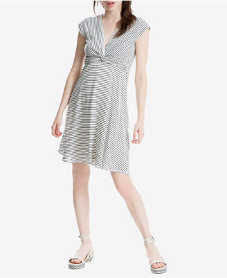 Max Studio London Striped Twist-Front Dress, Created for Macy's