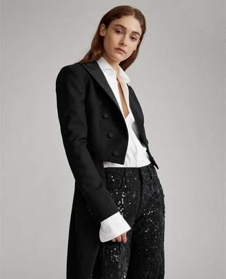 Ralph Lauren Tuxedo-Tail Wool Blazer