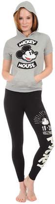 Asstd National Brand Short Sleeve Hooded Neck Pajama Top-Juniors