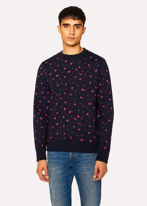 Paul Smith Men's Navy 'Ink Spot' Print Organic-Cotton Sweatshirt