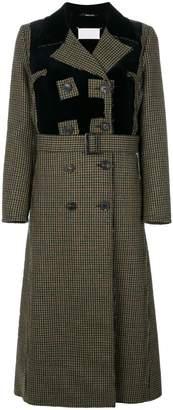 Maison Margiela houndstooth patterned coat