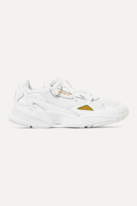 adidas Falcon Leather And Mesh Sneakers - White