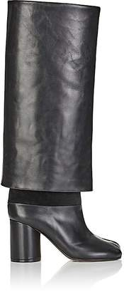 Maison Margiela WOMEN'S LEATHER FOLDOVER KNEE-HIGH BOOTS