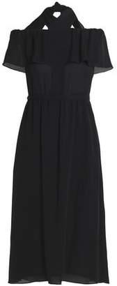 Vanessa Seward Off-The-Shoulder Ruffled Silk Crepe De Chine Midi Dress