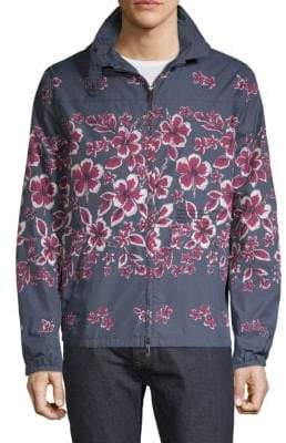 Valentino Kway Floral-Print Jacket