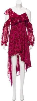 Self-Portrait Asymmetrical Silk Dress w/ Tags