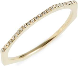 Poppy Finch Diamond Octagon Band Ring