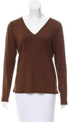 Magaschoni Silk Long Sleeve Top w/ Tags