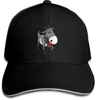 c3077960b54 Macevoy Baseball Cap Grey Goat Unisex Sporting Cotton Cap Adjustable Plain  Hat Sun Outdoor Snapback Hat