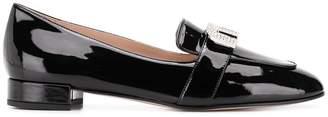 Miu Miu embellished logo loafers