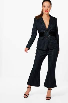 boohoo Petite Stripe Kick Hem Co-Ord Trouser