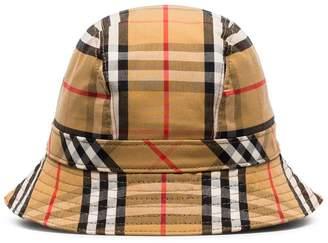 3570af858af Burberry multicoloured vintage check cotton bucket hat