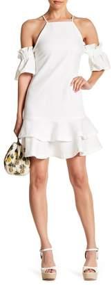 Endless Rose Cold Shoulder Flounce Dress