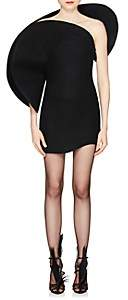 Saint Laurent Women's Sculpted Wool Felt Minidress-Black
