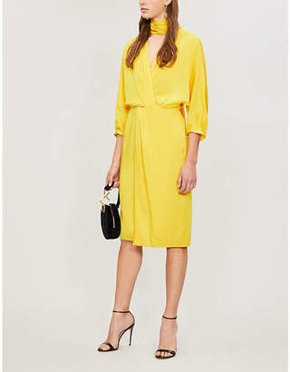 Diane von Furstenberg Front-tie satin dress
