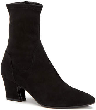 Aquatalia Orida Stretch-Velvet Sock Booties