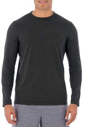 Athletic Works Athletic Work's Men's Performance Activewear Long Sleeve Breathable Crew Neck Tee Shirt